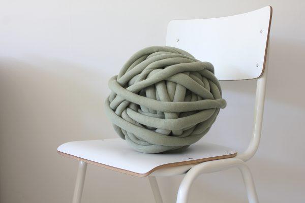 big cotton diy light green chunky cotton knit throw retailer wholesale inkoop groothandel grof gebreid deken plaid