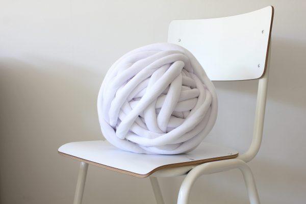big cotton diy white natural bleached bright snow white chunky cotton knit throw retailer wholesale inkoop groothandel grof gebreid deken plaid