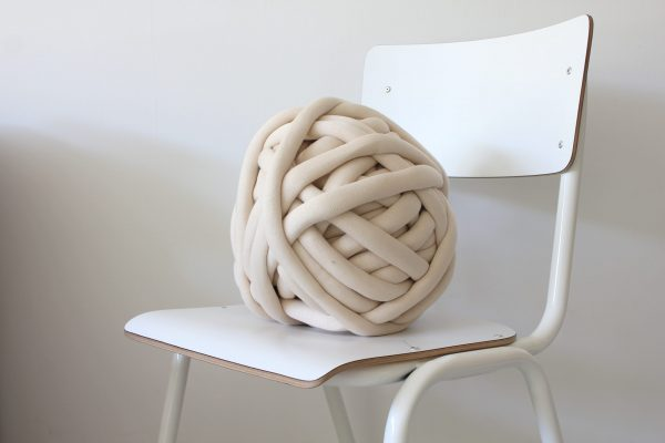 big cotton diy light beige taupe sand chunky cotton knit throw retailer wholesale inkoop groothandel grof gebreid deken plaid