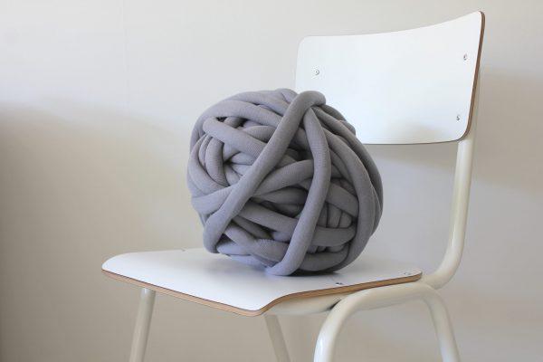 big cotton diy blue grey anthracite chunky cotton knit throw retailer wholesale inkoop groothandel grof gebreid deken plaid