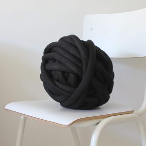 big cotton diy black anthracite chunky cotton knit throw retailer wholesale inkoop groothandel grof gebreid deken plaid