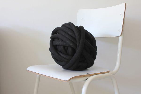 big cotton diy black anthracite chunky cotton knit throw retailer wholesale inkoop groothandel grof gebreid deken plaid