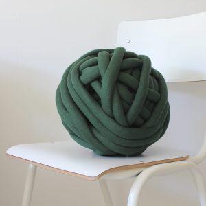 big cotton diy dark green chunky cotton knit throw retailer wholesale inkoop groothandel grof gebreid deken plaid