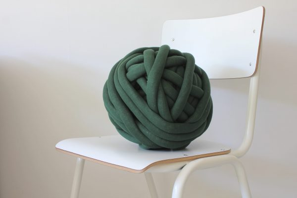 big cotton diy dark green chunky cotton knit throw retailer wholesale inkoop groothandel grof gebreid deken plaid
