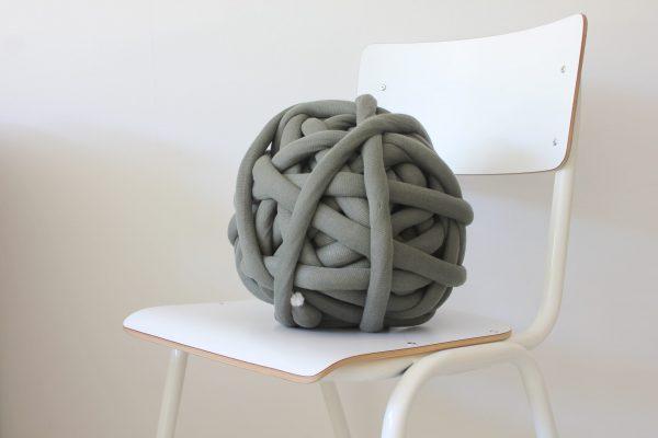 big cotton diy grey green chunky cotton knit throw retailer wholesale inkoop groothandel grof gebreid deken plaid
